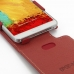 Samsung Galaxy Note 3 Leather Flip Top Case (Red) genuine leather case by PDair