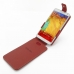 Samsung Galaxy Note 3 Leather Flip Top Case (Red) top quality leather case by PDair