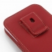 Samsung Galaxy Note 2 Pouch Case with Belt Clip (Red) genuine leather case by PDair