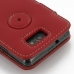 Samsung Galaxy R Leather Flip Cover (Red) protective carrying case by PDair