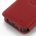 Samsung Galaxy R Leather Flip Cover (Red) handmade leather case by PDair