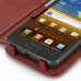 Samsung Galaxy R Leather Flip Cover (Red) top quality leather case by PDair