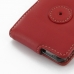 Samsung Galaxy R Leather Flip Case (Red) protective carrying case by PDair