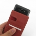 Samsung Galaxy R Leather Flip Case (Red) genuine leather case by PDair
