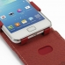 Samsung Galaxy S2 Plus Leather Flip Top Case (Red) genuine leather case by PDair