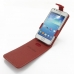 Samsung Galaxy S2 Plus Leather Flip Top Case (Red) top quality leather case by PDair