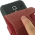 Samsung Galaxy Ace Plus Leather Flip Case (Red) handmade leather case by PDair