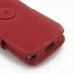 Samsung Captivate Galaxy S Leather Flip Cover (Red) handmade leather case by PDair