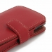 Samsung Captivate Galaxy S Leather Flip Cover (Red) genuine leather case by PDair