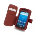 Samsung Captivate Galaxy S Leather Flip Cover (Red) top quality leather case by PDair