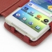 Samsung Galaxy Player 4.2 Leather Flip Cover (Red) genuine leather case by PDair