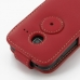 Samsung Galaxy Y Duos Leather Flip Top Case (Red) protective carrying case by PDair