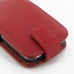 Samsung Galaxy Y Duos Leather Flip Top Case (Red) handmade leather case by PDair