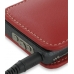 Sony Walkman NWZ-X1050 X1060 X1000 Pouch Case with Belt Clip (Red) handmade leather case by PDair