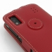 ZTE Skate Leather Flip Top Case (Red) protective carrying case by PDair