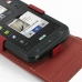 ZTE Skate Leather Flip Top Case (Red) genuine leather case by PDair