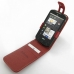 ZTE Skate Leather Flip Top Case (Red) top quality leather case by PDair