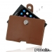 BlackBerry Passport Pouch Leather Holster Case (Brown) best cellphone case by PDair