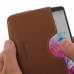 LG G3 Leather Wallet Sleeve Case (Brown) genuine leather case by PDair