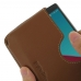 LG G4 Leather Wallet Sleeve Case (Brown) genuine leather case by PDair