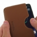 Motorola DROID Turbo Leather Wallet Sleeve Case (Brown) genuine leather case by PDair