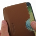 Samsung Galaxy E7 Leather Wallet Sleeve Case (Brown) genuine leather case by PDair