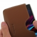 Sony Xperia Z1 Leather Wallet Sleeve Case (Brown) genuine leather case by PDair