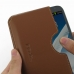 Samsung Galaxy Note 2 Leather Wallet Sleeve Case (Brown) handmade leather case by PDair