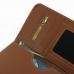 Samsung Galaxy Note 2 Leather Wallet Sleeve Case (Brown) genuine leather case by PDair