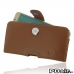 Samsung Galaxy S6 edge+ Plus Leather Holster Case (Brown) custom degsined carrying case by PDair