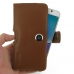 Samsung Galaxy Note 5 Leather Holster Case (Brown) genuine leather case by PDair