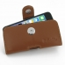 iPhone 5 5s Leather Holster Case (Brown) custom degsined carrying case by PDair