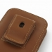 iPhone 5 5s (in Slim Cover) Pouch Clip Case (Brown) handmade leather case by PDair