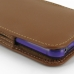 iPhone 5 5s (in Slim Cover) Pouch Case (Brown) genuine leather case by PDair