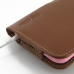 iPhone 6 6s Plus (in Slim Cover) Holster Case (Brown) protective carrying case by PDair