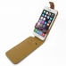 iPhone 6 6s Plus Leather Flip Top Case (Brown) top quality leather case by PDair