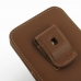 iPhone 6 6s Plus Pouch Case with Belt Clip (Brown) top quality leather case by PDair