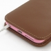 iPhone 6 6s Plus (in Slim Cover) Pouch Case (Brown) handmade leather case by PDair
