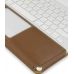 MacBook 2008 13 Leather Flip Cover (Brown) handmade leather case by PDair