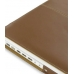 MacBook 2008 13 Leather Flip Cover (Brown) genuine leather case by PDair