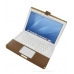 MacBook 2008 13 Leather Flip Cover (Brown) offers worldwide free shipping by PDair