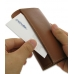 iPhone 4 4s Leather Wallet Case (Brown) top quality leather case by PDair
