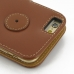 iPhone 6 6s Leather Flip Cover (Brown) protective carrying case by PDair