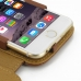 iPhone 6 6s Leather Flip Cover (Brown) genuine leather case by PDair