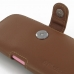 iPhone 6 6s (in Slim Cover) Holster Case (Brown) genuine leather case by PDair