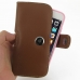 iPhone 6 6s (in Slim Cover) Holster Case (Brown) top quality leather case by PDair