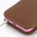 iPhone 6 6s (in Slim Cover) Pouch Clip Case (Brown) handmade leather case by PDair
