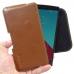 LG G4 Leather Holster Pouch Case (Brown) genuine leather case by PDair