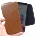 LG G3 Leather Holster Pouch Case (Brown) genuine leather case by PDair