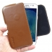 Samsung Galaxy J5 Leather Holster Pouch Case (Brown) genuine leather case by PDair
